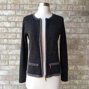 Venus Blazer Knitted Sweater Zip Front Size S 🌸
